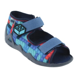 Befado obuwie dziecięce 250P094 niebieskie szare wielokolorowe 2
