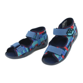 Befado obuwie dziecięce 250P094 niebieskie szare wielokolorowe 4