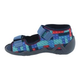 Befado obuwie dziecięce 250P094 niebieskie szare wielokolorowe 3