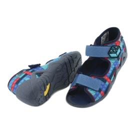 Befado obuwie dziecięce 250P094 niebieskie szare wielokolorowe 5