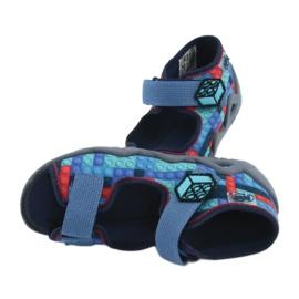 Befado obuwie dziecięce 250P094 niebieskie szare wielokolorowe 6