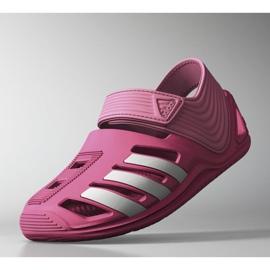 Sandały adidas Zsandal Jr B44457 różowe 1