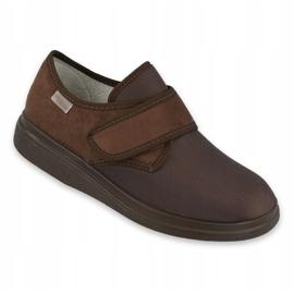 Befado obuwie damskie pu 036D008 brązowe 1