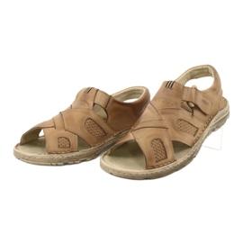 Komfortowe Sandały Skórzane Naszbut 036/A brązowe 4