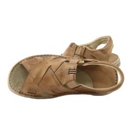 Komfortowe Sandały Skórzane Naszbut 036/A brązowe 6
