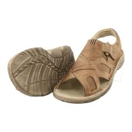Komfortowe Sandały Skórzane Naszbut 036/A brązowe 5