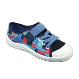 Befado obuwie dziecięce 251X147 niebieskie wielokolorowe 2