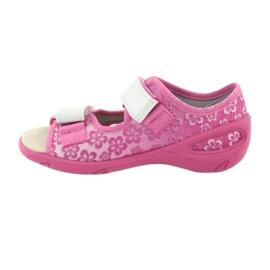 Befado obuwie dziecięce pu 065P138 różowe 3