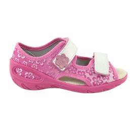 Befado obuwie dziecięce pu 065P138 różowe 1