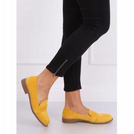Mokasyny damskie miodowe T366P Yellow żółte 2