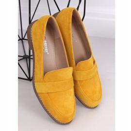 Mokasyny damskie miodowe T366P Yellow żółte 1