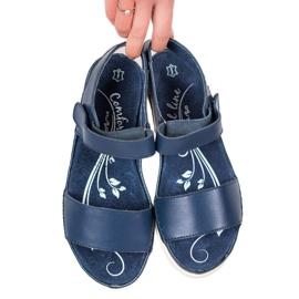 Filippo Granatowe Sandały Ze Skóry niebieskie 1