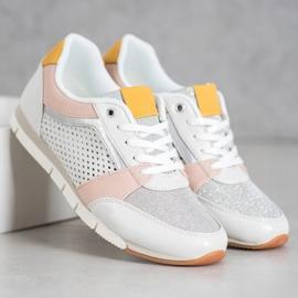 Kylie Ażurowe Buty Sportowe białe 1