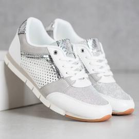 Kylie Ażurowe Buty Sportowe białe 4