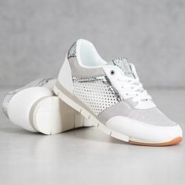 Kylie Ażurowe Buty Sportowe białe 5