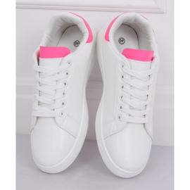 Trampki damskie biało-różowe LV101P Peach 3