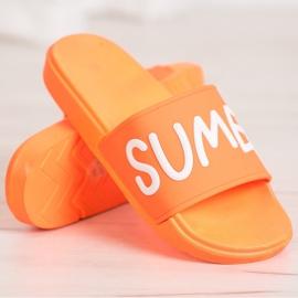 SHELOVET Gumowe Klapki pomarańczowe 1