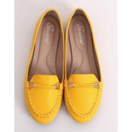 Mokasyny damskie miodowe A8636 Yellow żółte 4