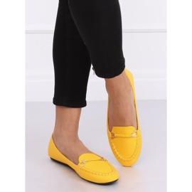 Mokasyny damskie miodowe A8636 Yellow żółte 2