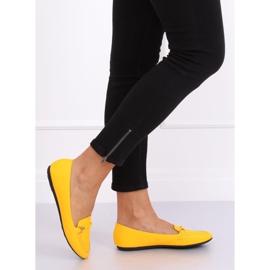 Mokasyny damskie miodowe A8636 Yellow żółte 1