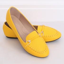 Mokasyny damskie miodowe A8636 Yellow żółte 3