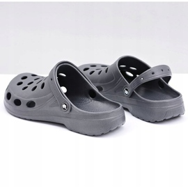 Flameshoes Męskie Klapki Sandały Szare Kroksy 5