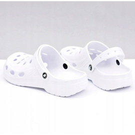 Flameshoes Męskie Klapki Sandały Białe Kroksy 9