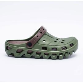 Flameshoes Zielone Męskie Ogrodowe Lekkie Klapki Kroksy Eva 5