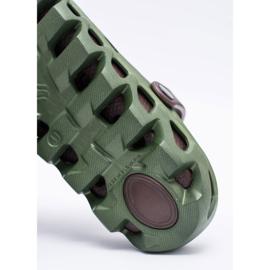 Flameshoes Zielone Męskie Ogrodowe Lekkie Klapki Kroksy Eva 6