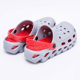 Flameshoes Szare Męskie Ogrodowe Lekkie Klapki Kroksy Eva 4