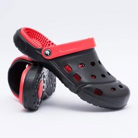Flameshoes Męskie Klapki Ogrodowe Kroksy Eva Czarne 6