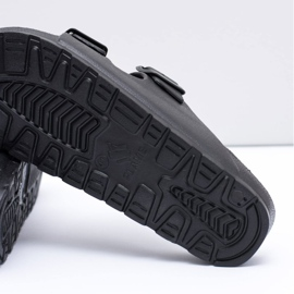 Flameshoes Męskie Czarne Ogrodowe Lekkie Klapki 6
