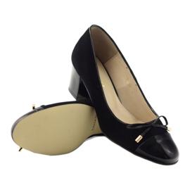 Czółenka z kokardą buty damskie Sagan 2275 czarne 3