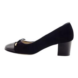 Czółenka z kokardą buty damskie Sagan 2275 czarne 2