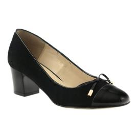 Czółenka z kokardą buty damskie Sagan 2275 czarne 1