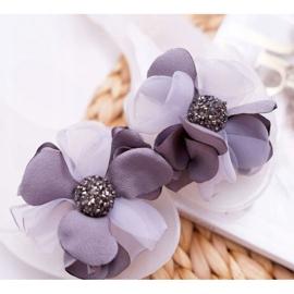 Lu Boo | Gumowe Balerinki Meliski Kwiatki Białe Candela 5