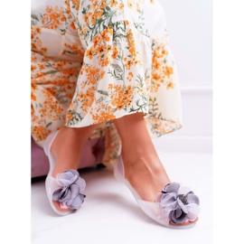 Lu Boo | Gumowe Balerinki Meliski Kwiatki Białe Candela 4
