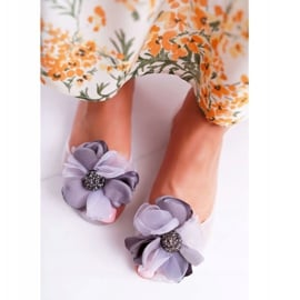 Lu Boo | Gumowe Balerinki Meliski Kwiatki Białe Candela 3