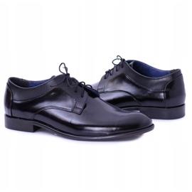 Bednarek Polish Shoes Męskie Półbuty Bednarek Eleganckie Skórzane Wizytowe Czarne Maksim 5
