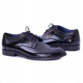 Bednarek Polish Shoes Męskie Półbuty Bednarek Eleganckie Skórzane Wizytowe Czarne Maksim 4
