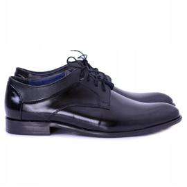 Bednarek Polish Shoes Męskie Półbuty Bednarek Eleganckie Skórzane Wizytowe Czarne Maksim 1