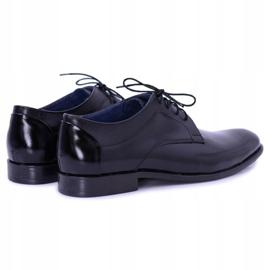 Bednarek Polish Shoes Męskie Półbuty Bednarek Eleganckie Skórzane Wizytowe Czarne Maksim 2