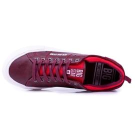 Big Star Męskie Bordowe Trampki Tenisówki BB174011 czerwone 4