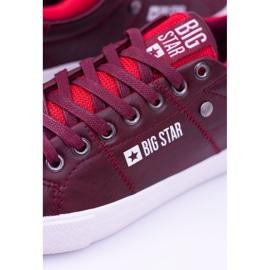Big Star Męskie Bordowe Trampki Tenisówki BB174011 czerwone 5