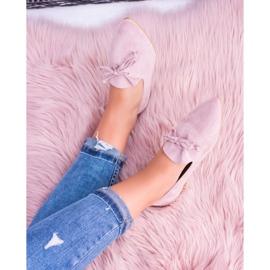 Lu Boo Różowe Baleriny W Szpic Lordsy Zamsz Feliciano 5