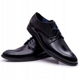 Bednarek Polish Shoes Męskie Półbuty Bednarek Eleganckie Skórzane Wizytowe Czarne Midas 8