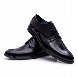 Bednarek Polish Shoes Męskie Półbuty Bednarek Eleganckie Skórzane Wizytowe Czarne Midas 5