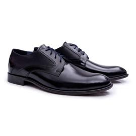 Bednarek Polish Shoes Męskie Półbuty Bednarek Eleganckie Skórzane Wizytowe Czarne Midas 1