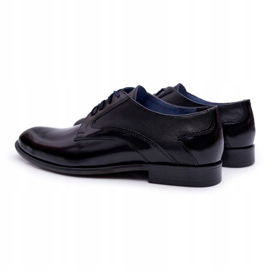 Bednarek Polish Shoes Męskie Półbuty Bednarek Eleganckie Skórzane Wizytowe Czarne Midas 2