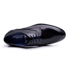 Bednarek Polish Shoes Męskie Półbuty Bednarek Eleganckie Skórzane Wizytowe Czarne Midas 3